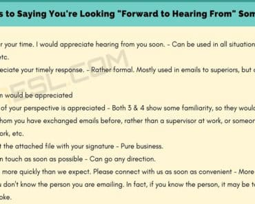 """50 Great Alternatives to """"I Look Forward to Hearing From You"""" 8"""