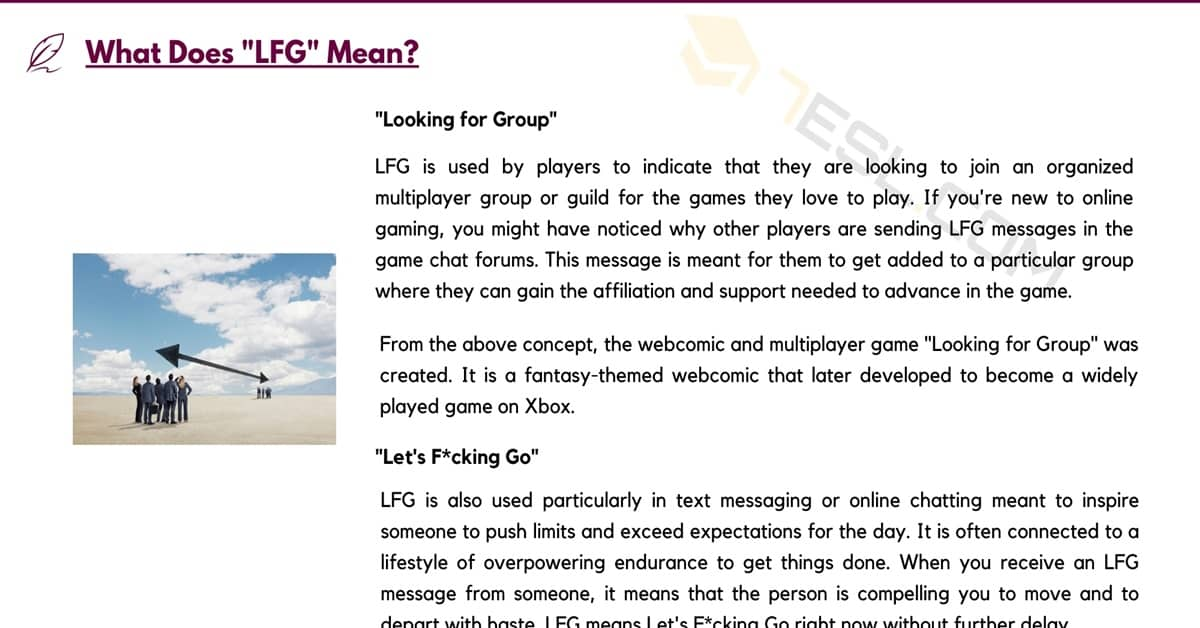 LFG Meaning: What Does LFG Mean and Stand for? 1