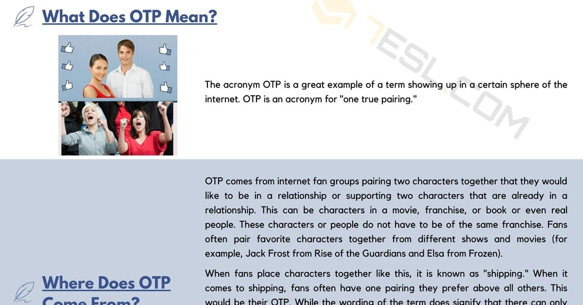 OTP Meaning: What Does OTP Mean? 6