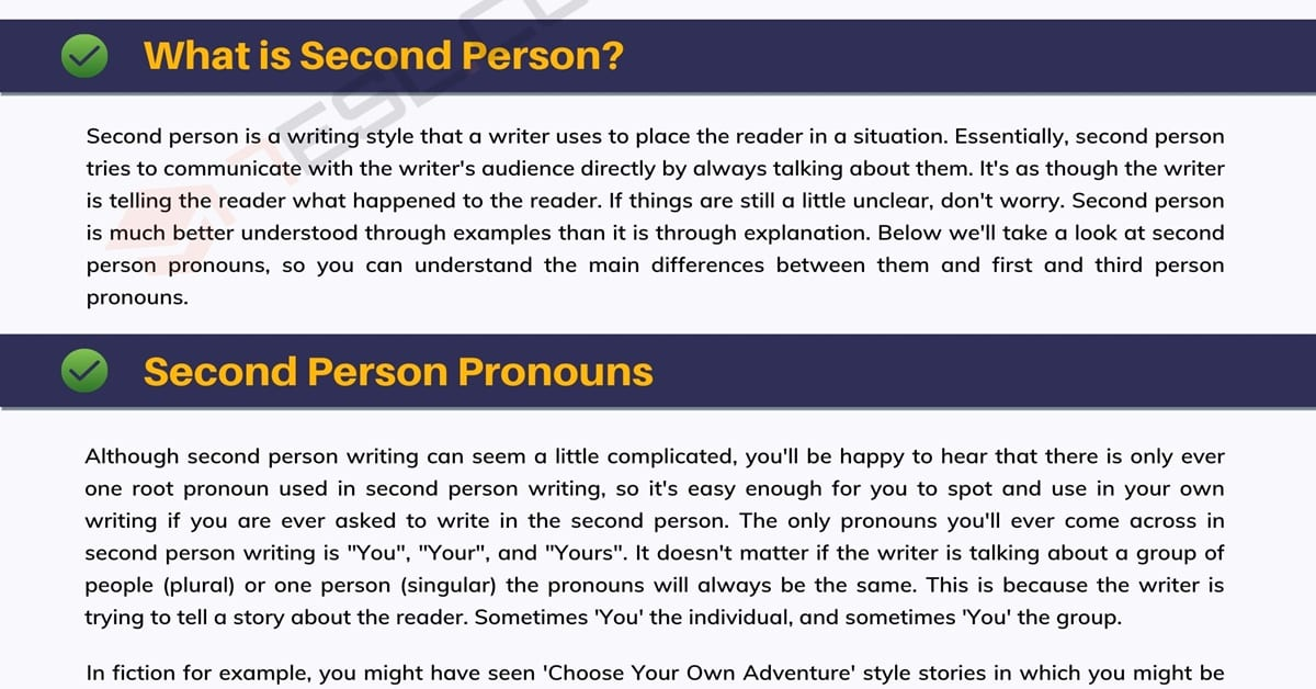 Second-Person Point Of View: What Is It And How Do I Use It? 1
