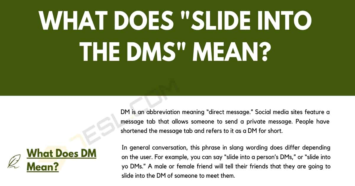 """Slide Into The DMs"" - Do You Know What This Term Means? 1"
