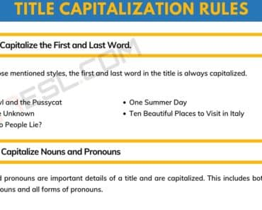 Title Capitalization: Useful Rules and Examples 9