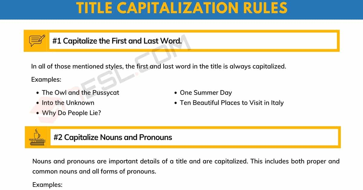 Title Capitalization: Useful Rules and Examples 4