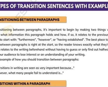 Transition Sentences: How to Use Them with Great Examples 5