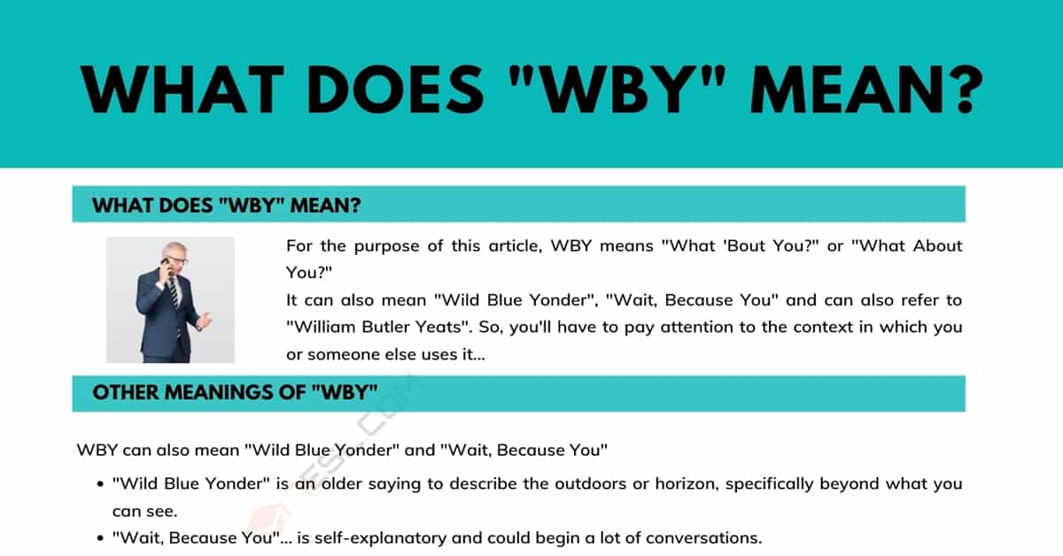 """""""WBY"""" Meaning: What Does WBY Mean and Stand for? 1"""