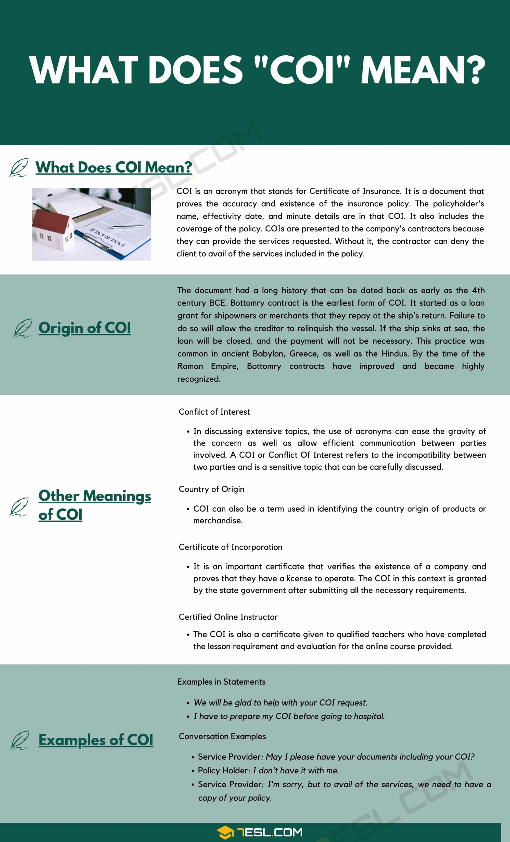 COI Meaning