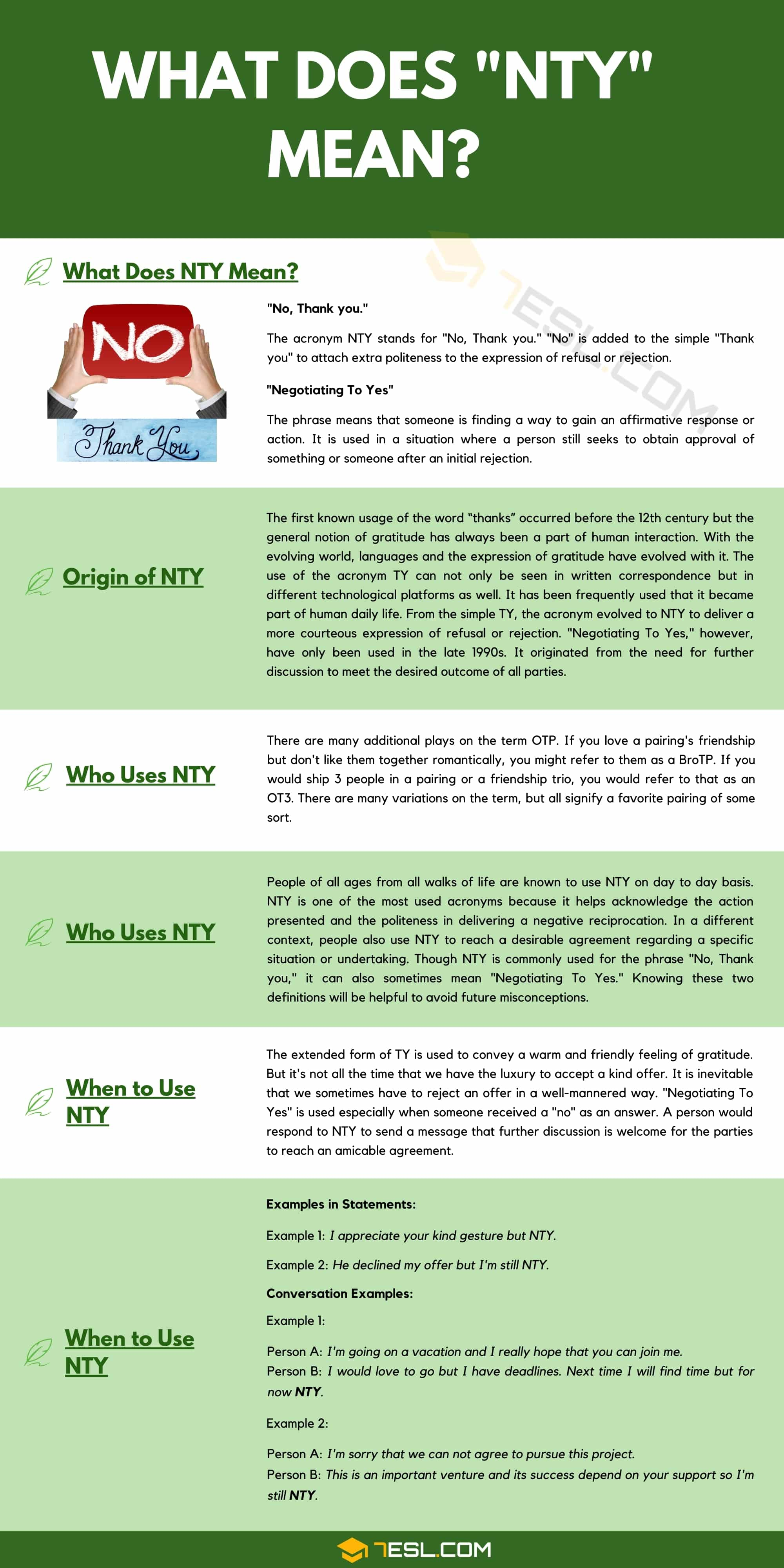 NTY Meaning
