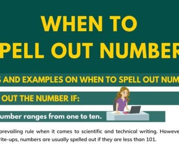 When to Spell Out Numbers in Writing: Important Rules and Examples 6