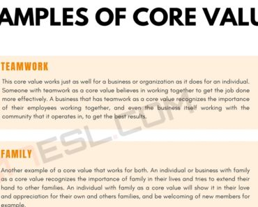 Core Values: 9 Important Examples of Core Values 3
