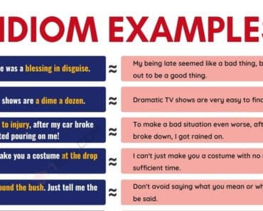 Idiom Examples | 40 Popular Examples of Idioms in English 2