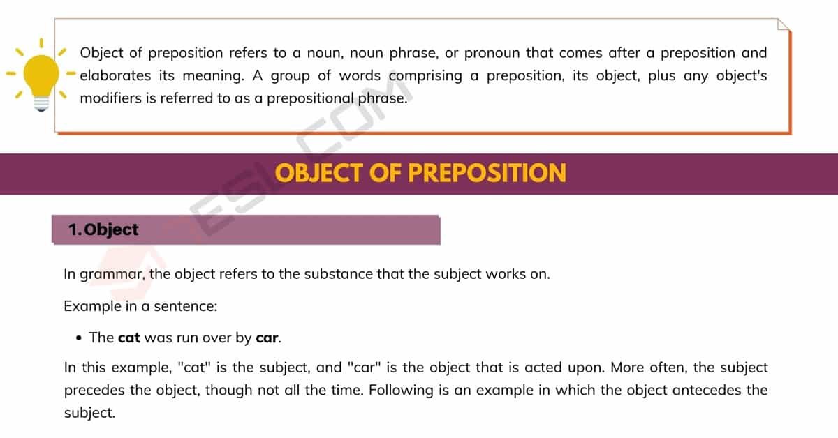Object of Preposition: the Easiest Way to Get! 1