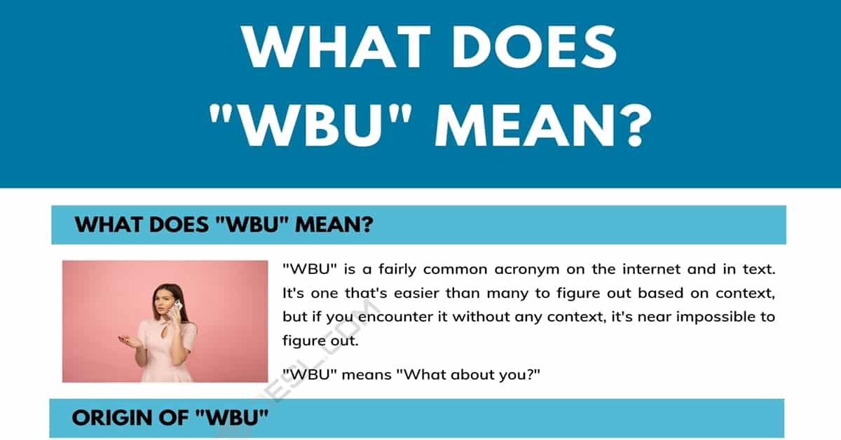 """WBU"" Meaning: What Does WBU Mean and Stand for? 1"