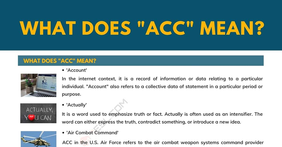 """ACC"" Meaning 
