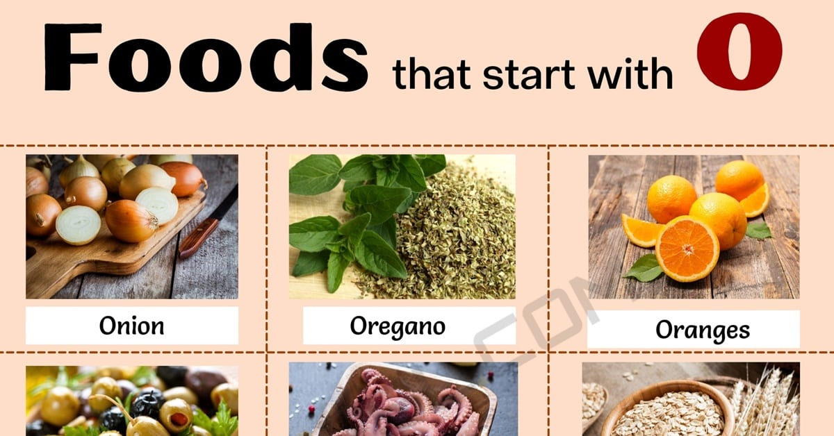 Food that Starts with O: What Are Some Foods that Start with O? 1