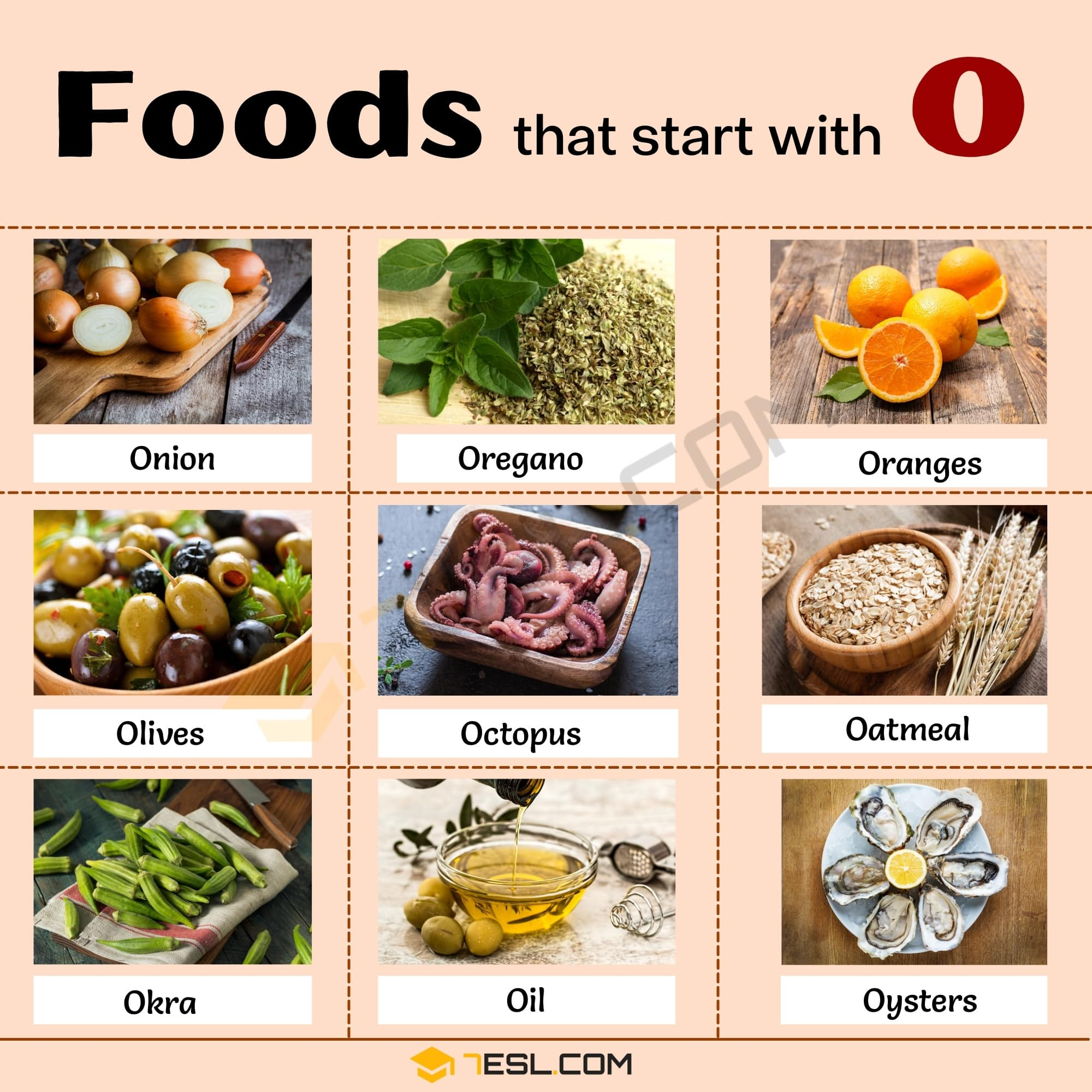 Foods that Start With O