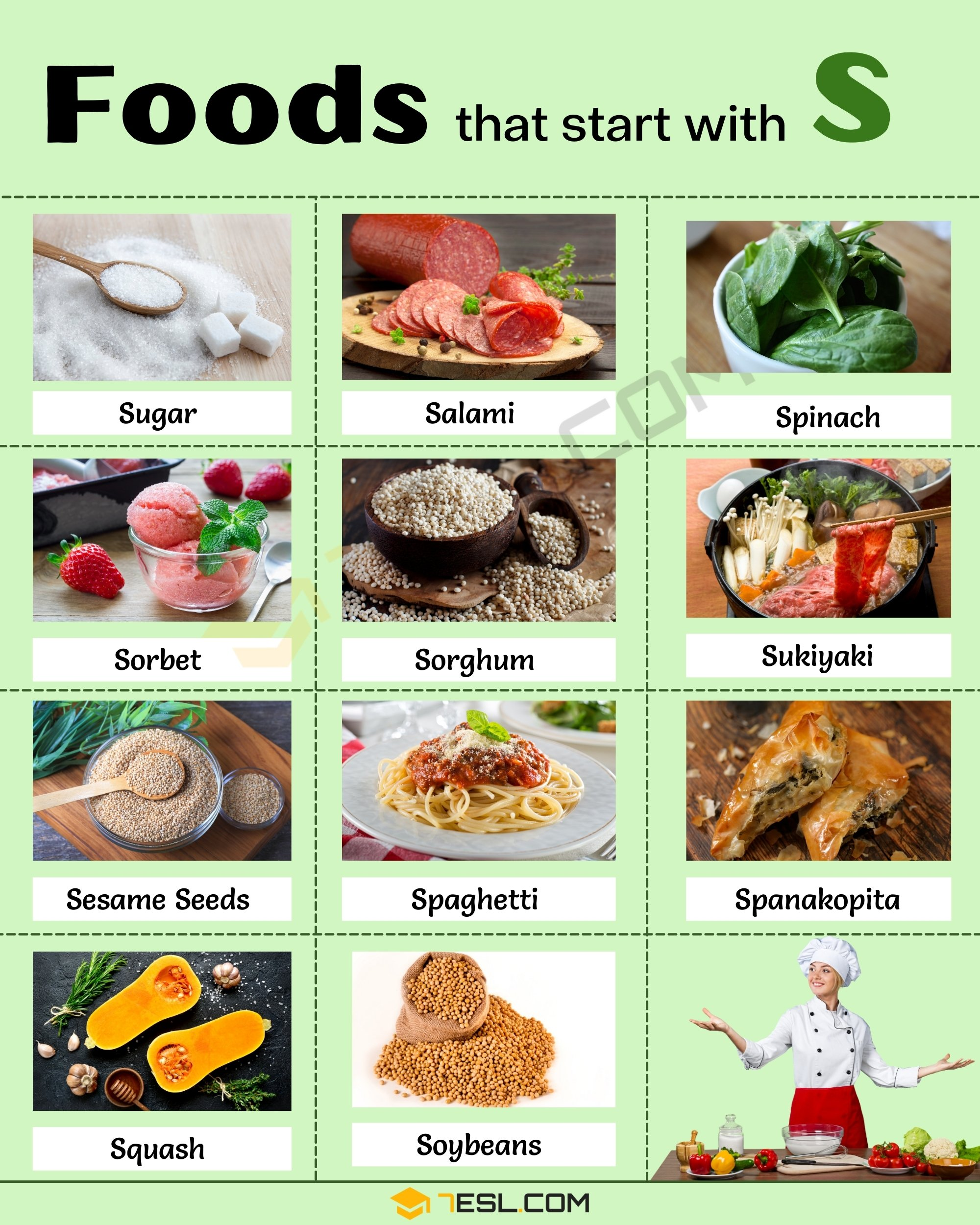 Foods that start with S