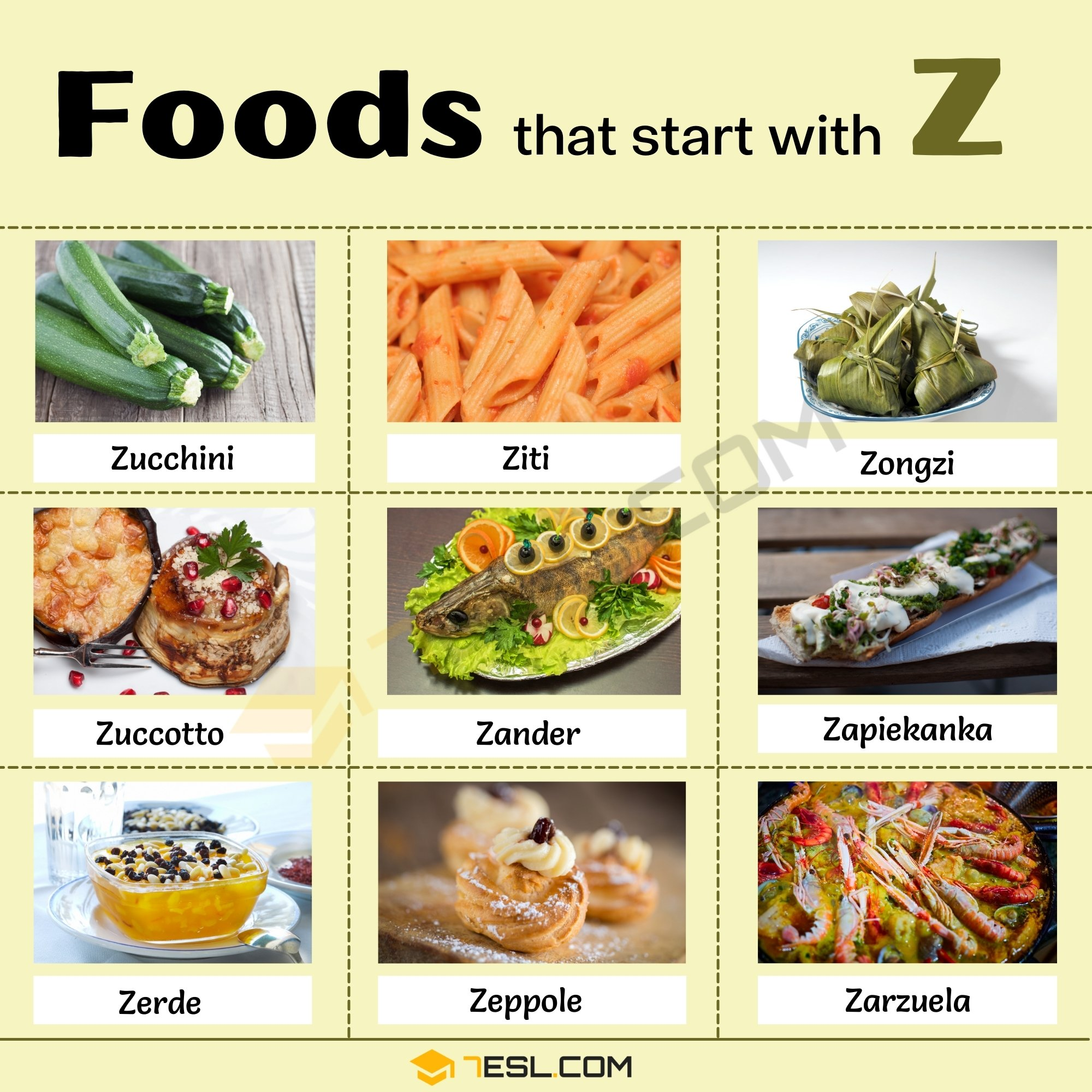 Foods That Start with Z