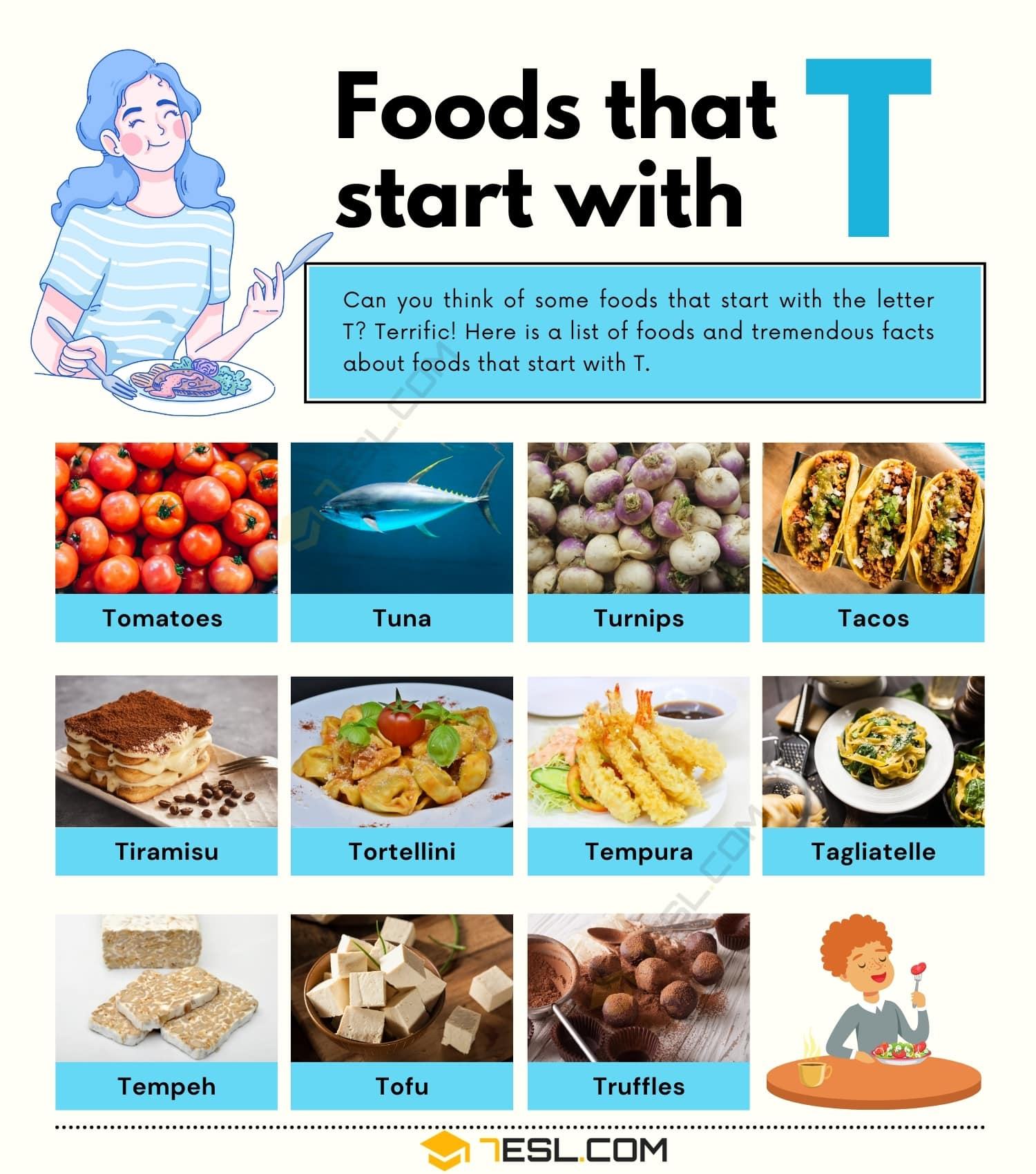 Foods That Start With T: 11 Types of Delicious Food Starting with T