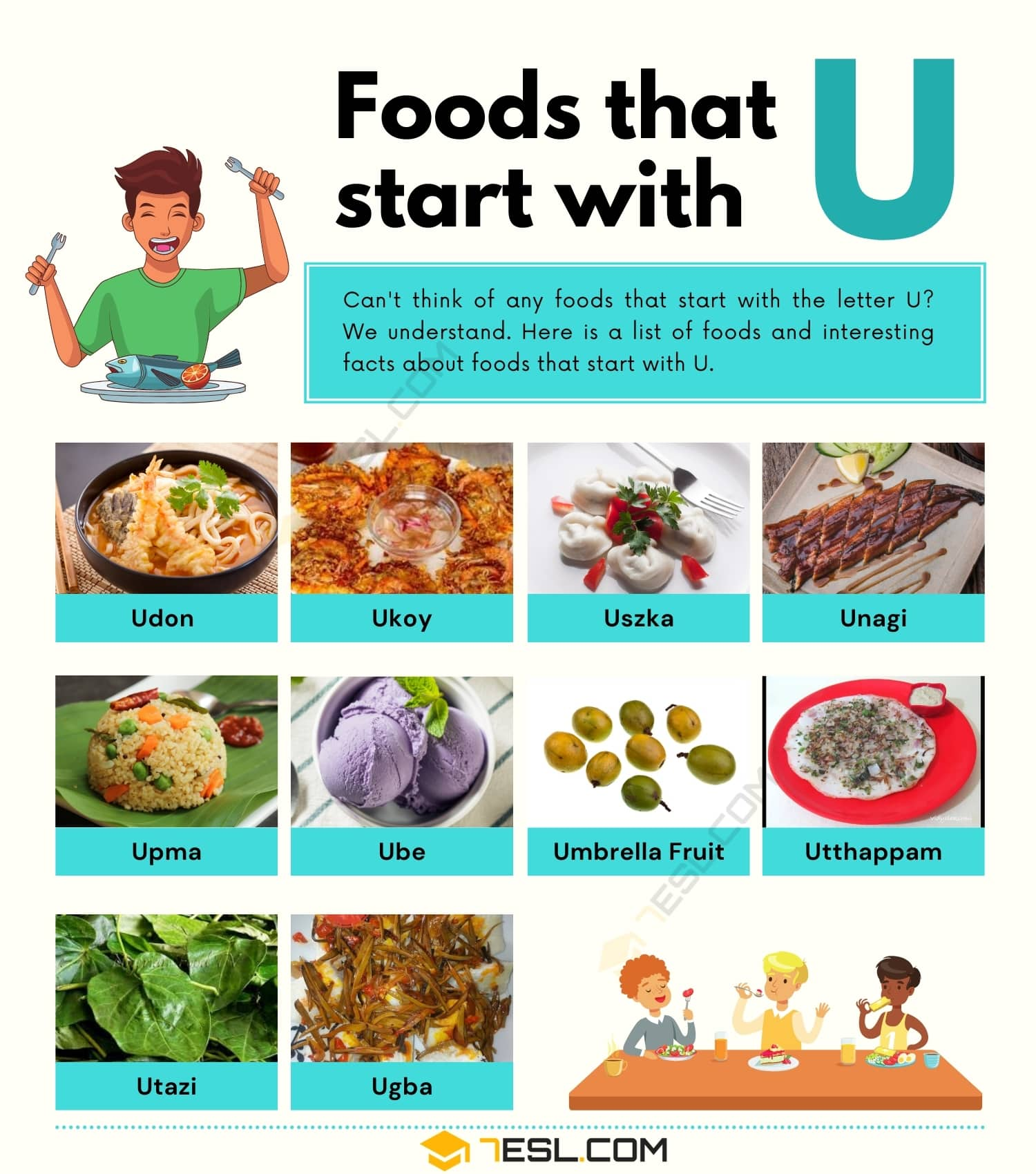 Foods that Start with U: 10 Tasty Foods that Start with U