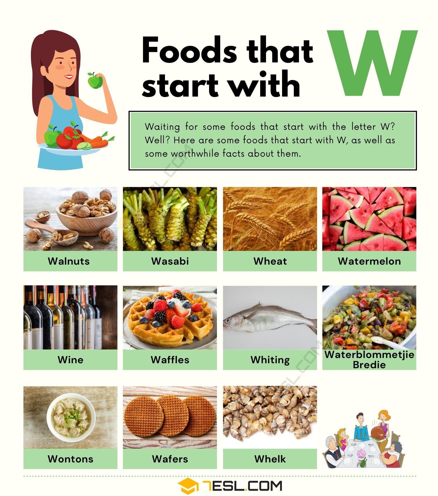 Foods that Start with W: 11 Tasty Foods that Start with W