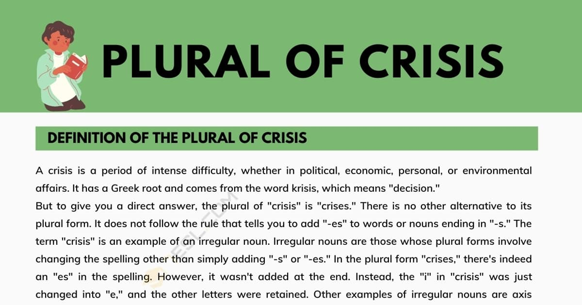 What is the Plural of Crisis? and Why It is Confused 1