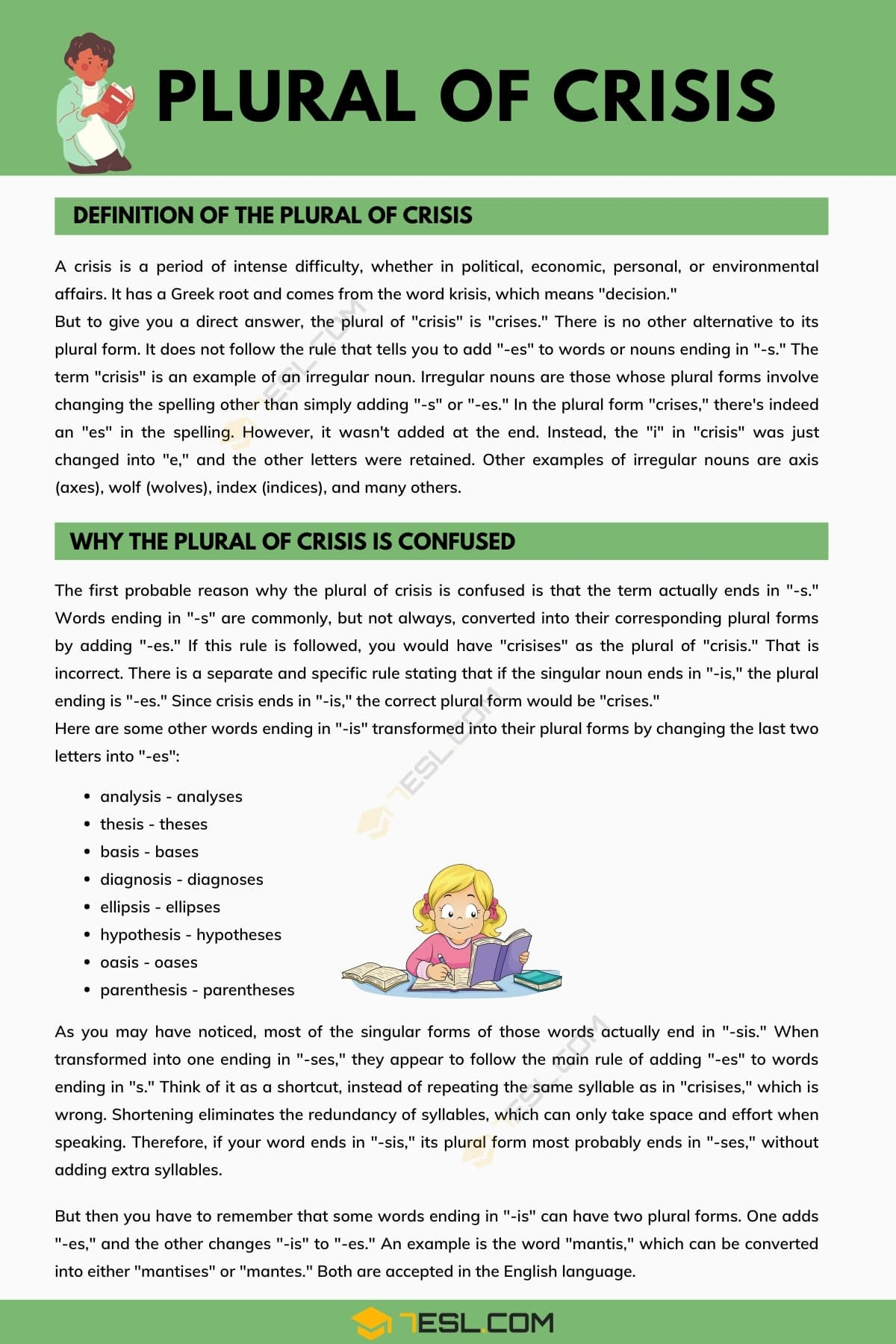Plural of Crisis | Definition of Plural of Crisis & Why the Plural of Crisis Is Confused?
