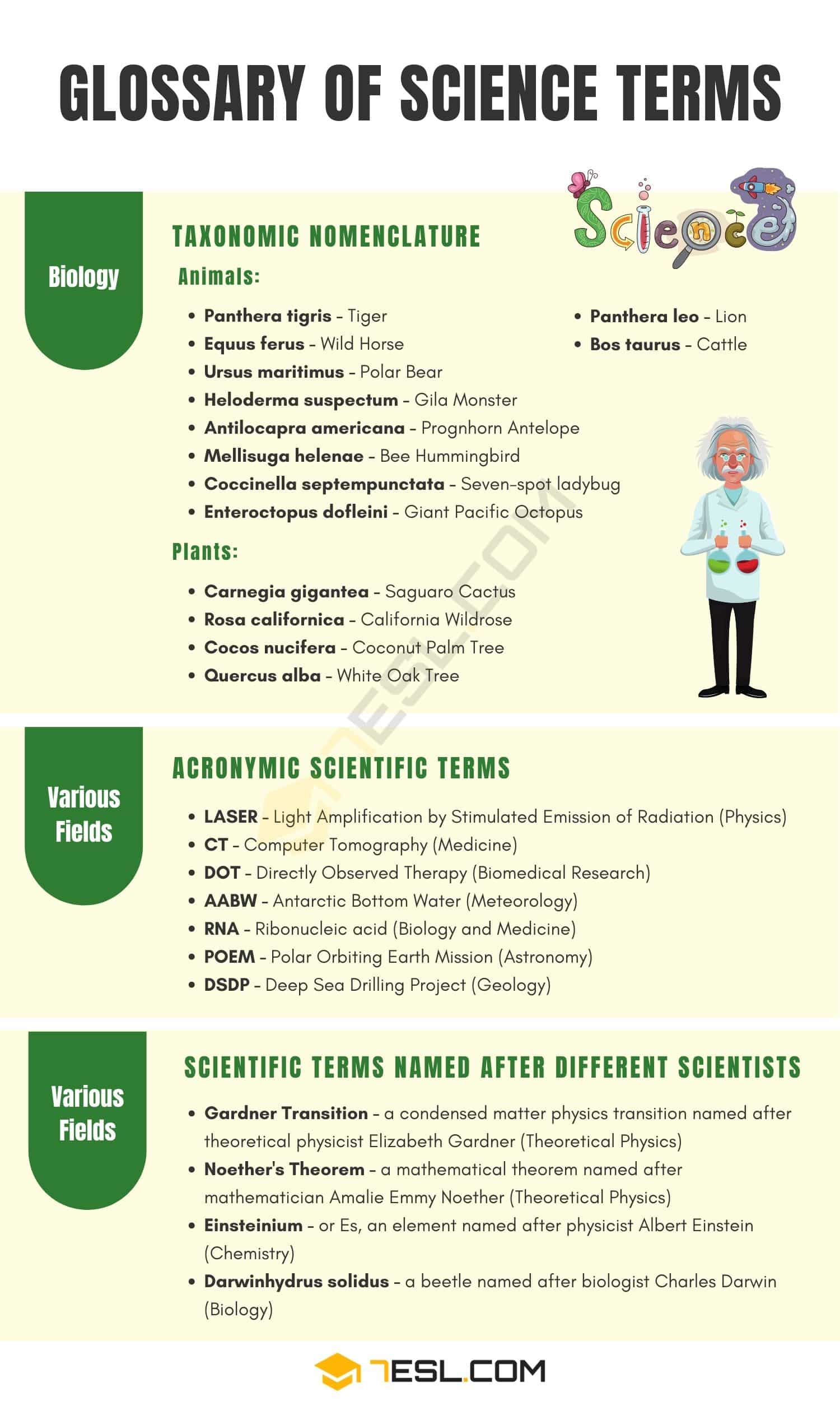 Science Terms
