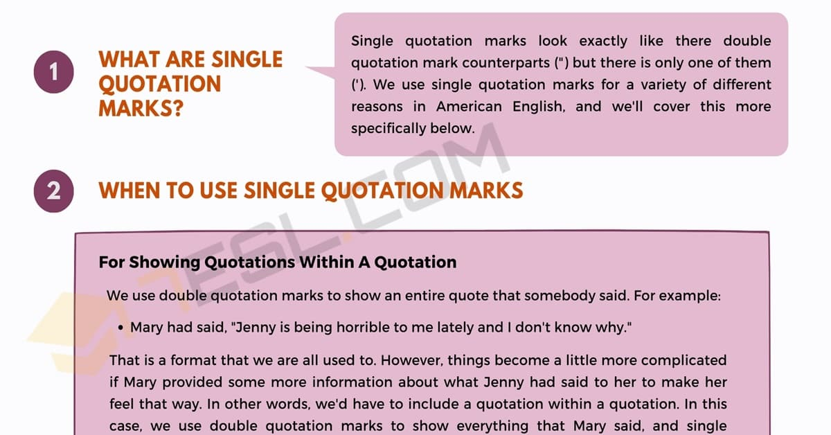Single Quotation Marks ' ' When and How to Use Them Correctly 1