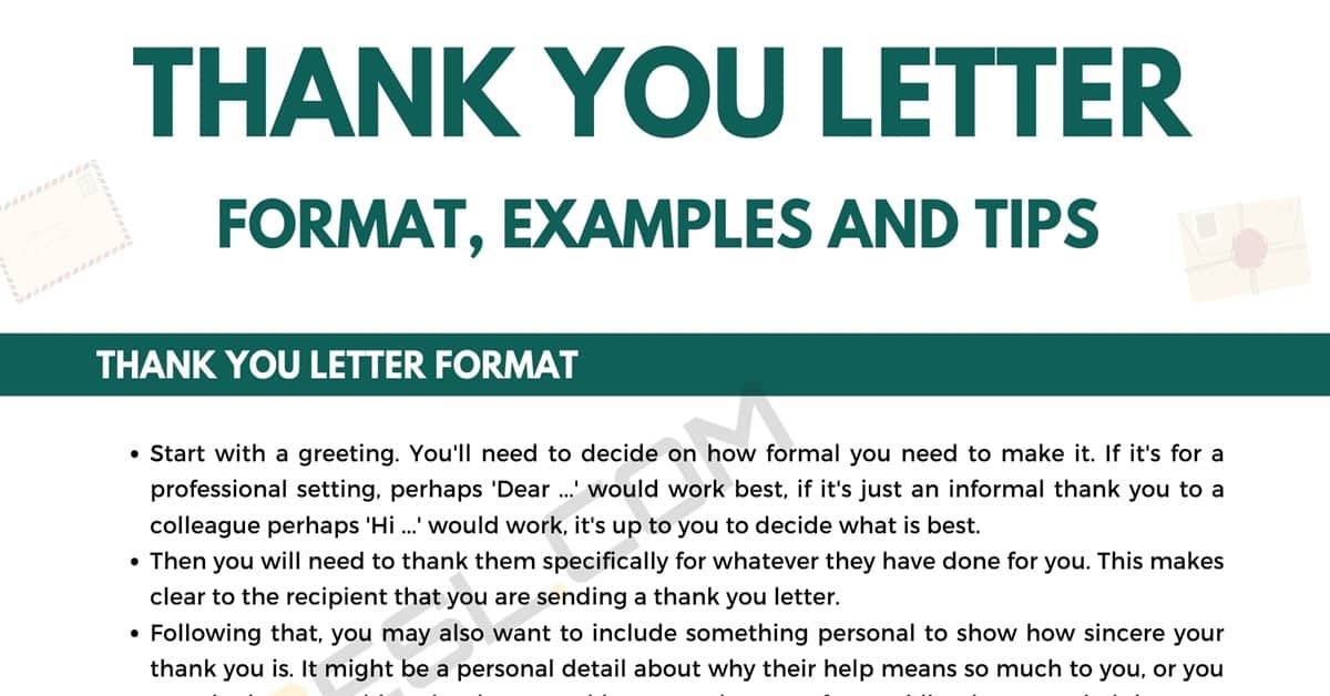 How to Write a Thank You Letter (with Easy Format & Great Samples) 7