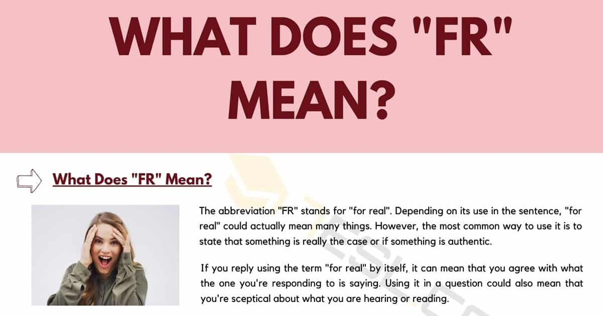 """FR Meaning: What Does the Term """"FR"""" Mean and Stand for? 1"""