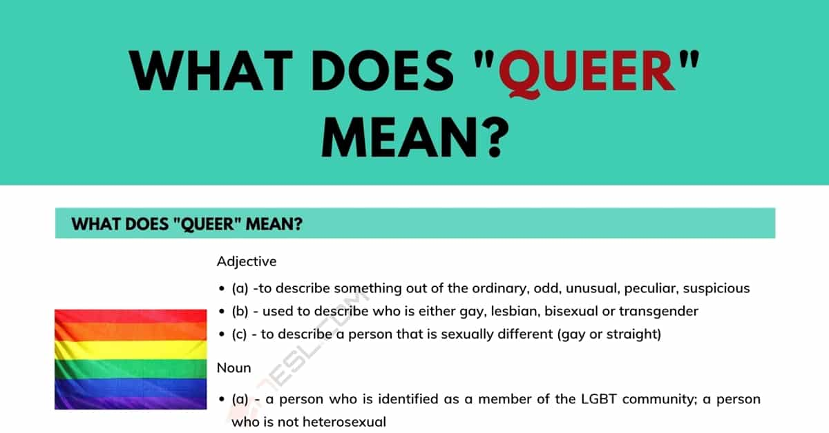 """""""Queer"""" Meaning: What Does Queer Mean? 1"""