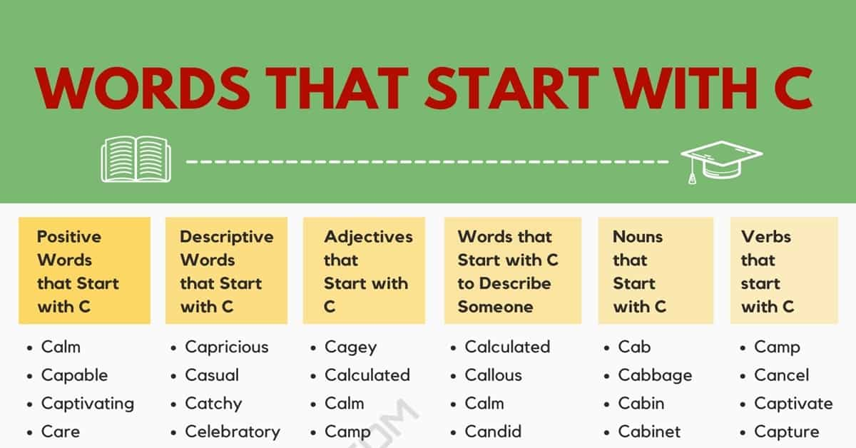 Words that Start with C | 1900+ C Words | Words Starting with C 1