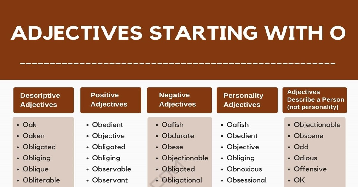 Adjectives that Start with O   List of 1000+ Adjectives Starting with O 1