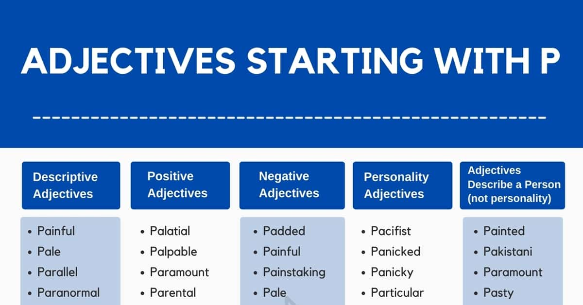 Adjectives that Start with P | 600+ Adjectives Starting with P in English 1