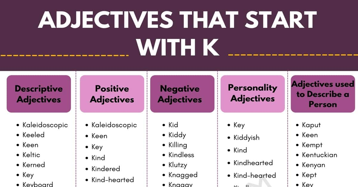 Adjectives that Start with K: 100+ K Adjectives in English 1