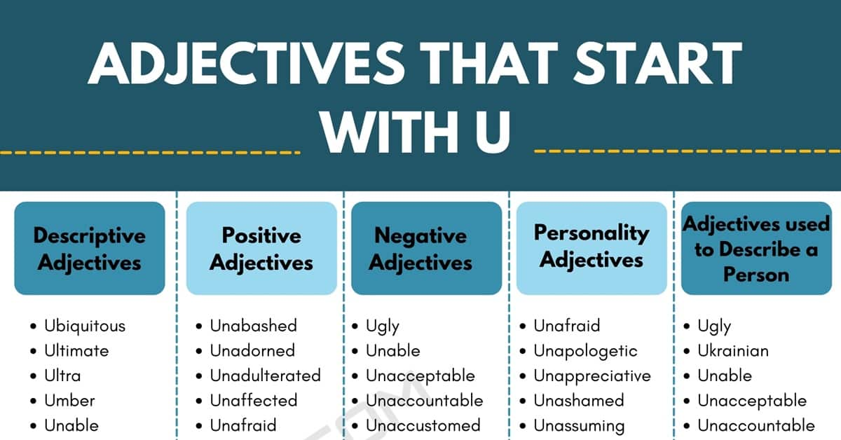 Adjectives that Start with U: 1700+ U Adjectives in English 1