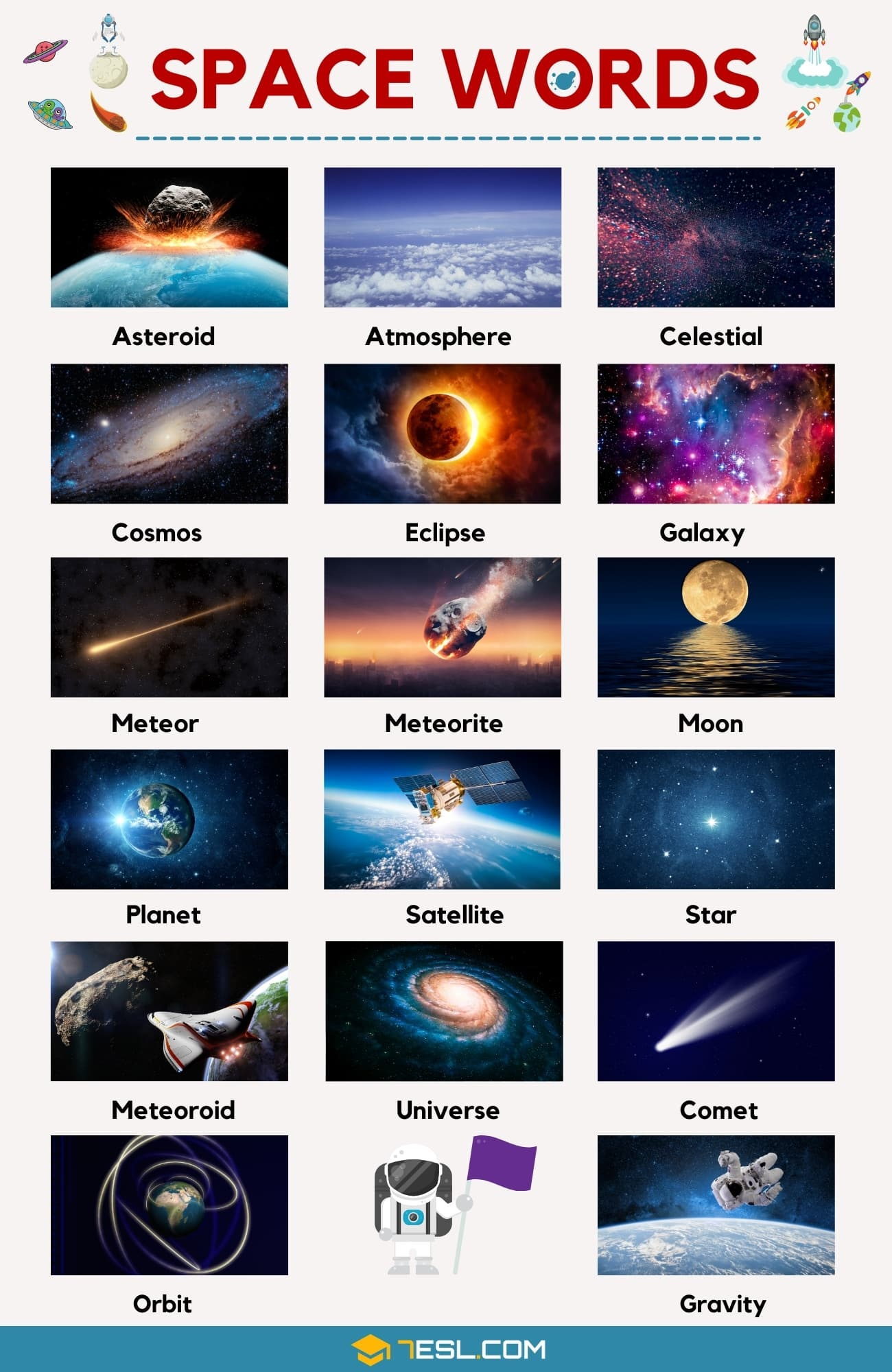 Space Words | List of Interesting Words Related to the Space