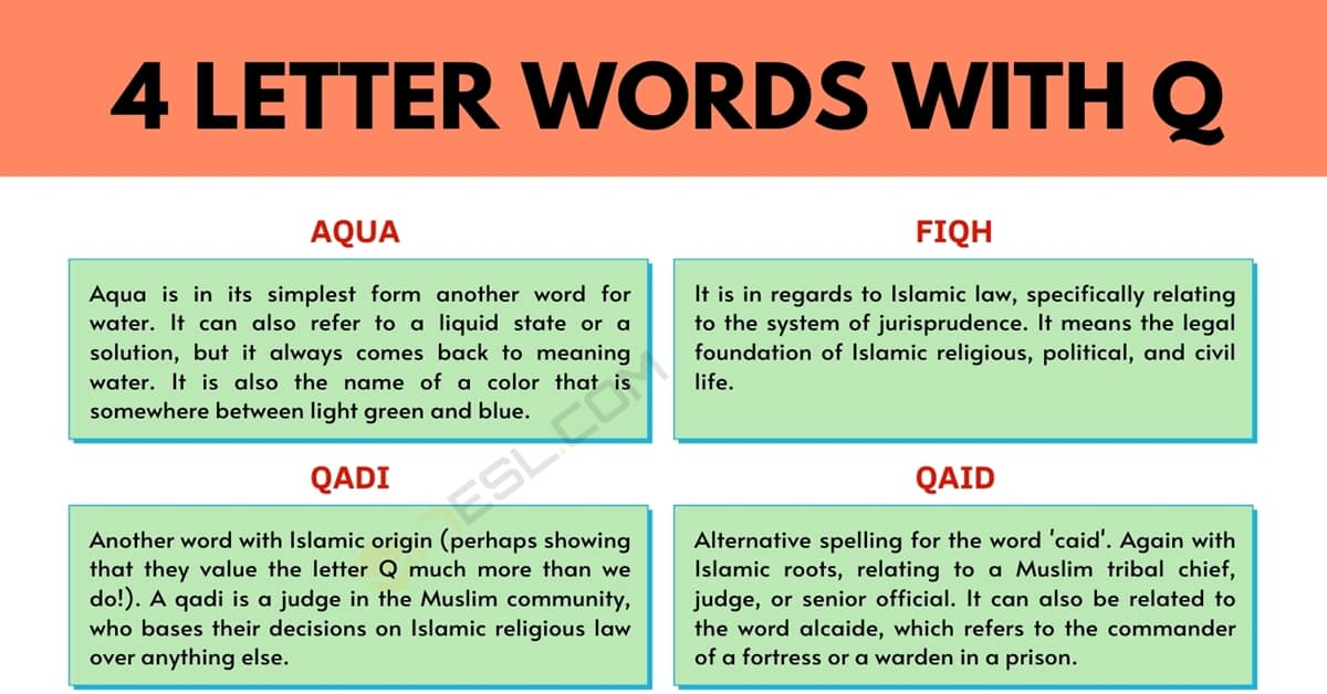 4 Letter Words with Q: How Many There Are & How to Use Them 1