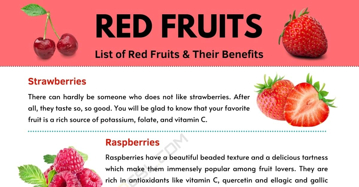 Red fruits: Top 5 Healthy Red Fruits and Their Benefits 1