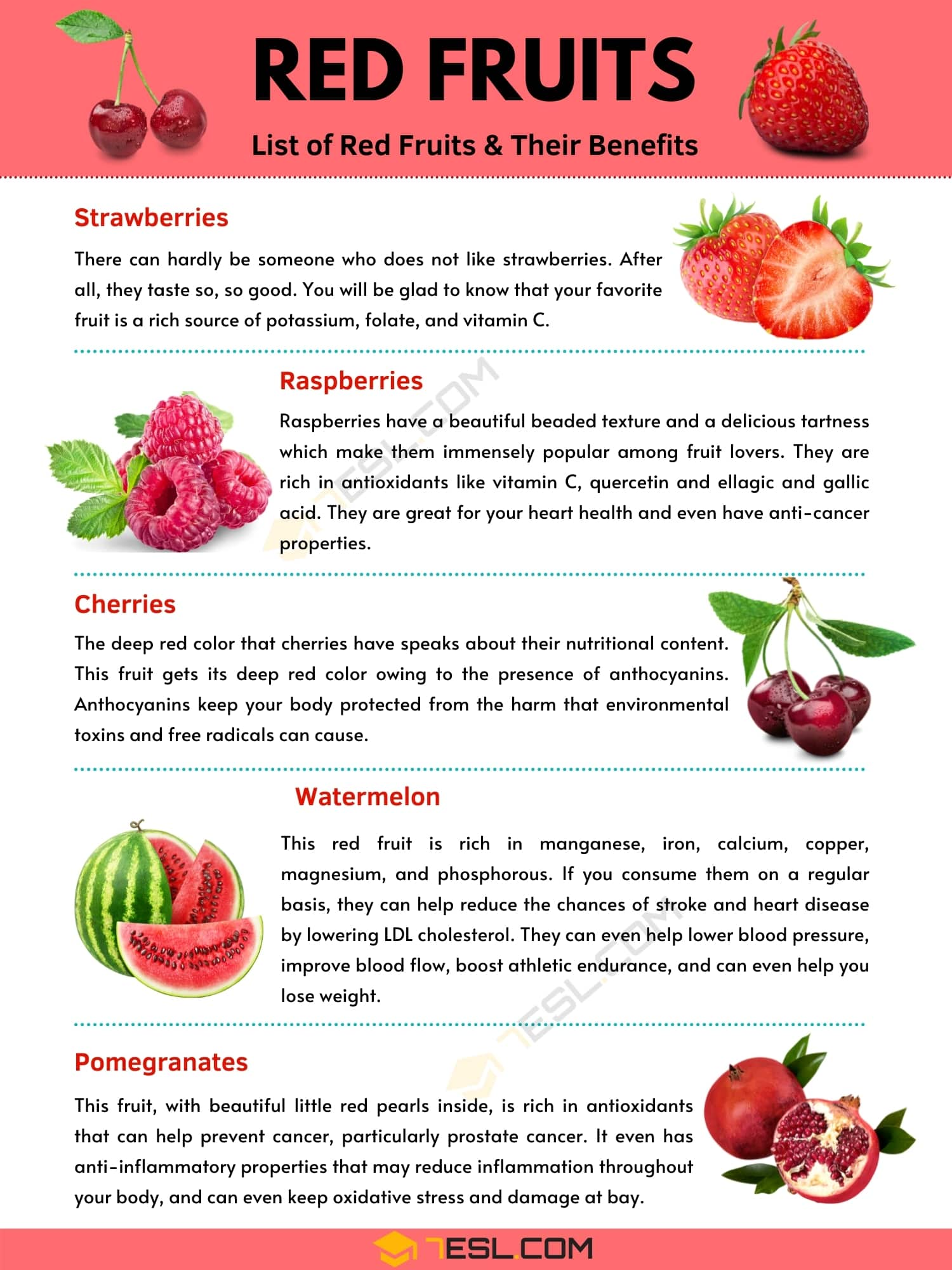 Red fruits: Top 5 Healthy Red Fruits and Their Benefits