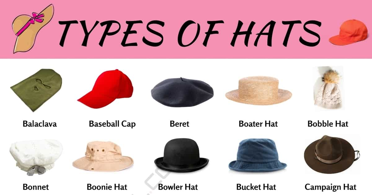 Types of Hats | 55 Different Hat Styles for Men and Women 1