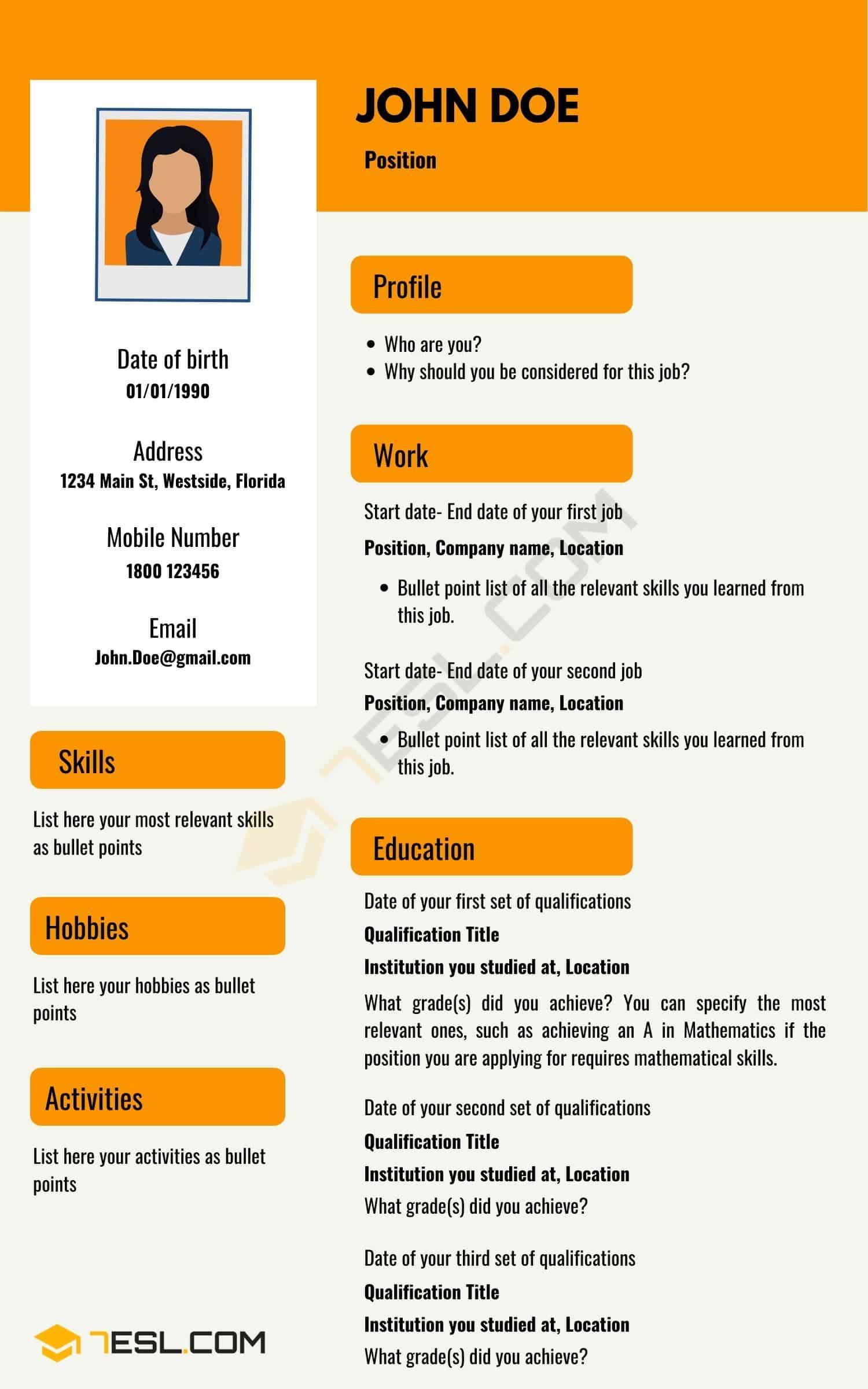 How to Write a CV | Sample CV