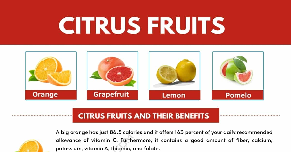 Citrus Fruits List with Interesting Benefits and Pictures 1