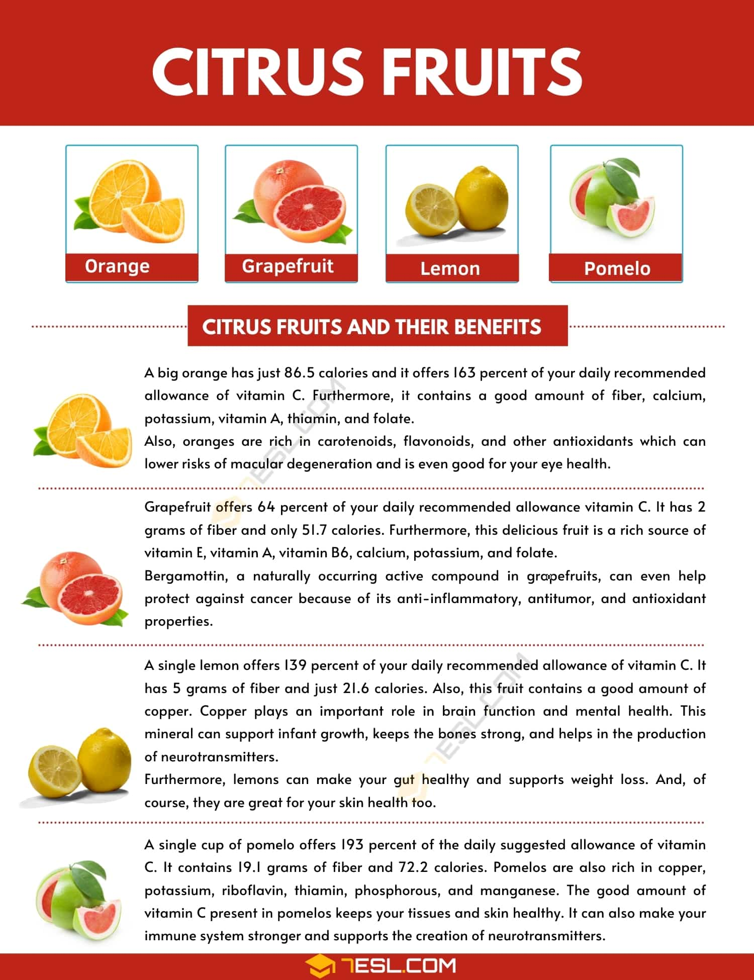 Top 4 Original Citrus Fruits and Their Powerful Health Benefits