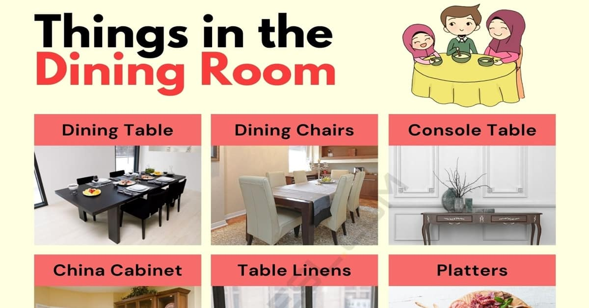 Dining Room Furniture List Of, Dining Room Furniture Names