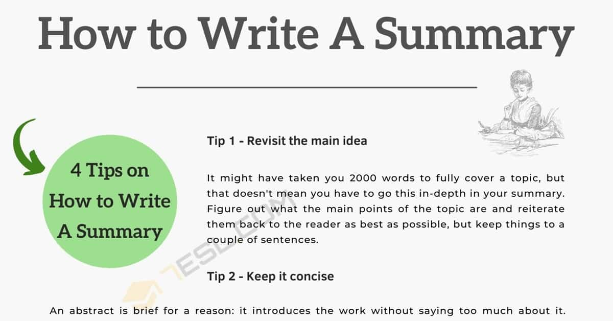 How to Write A Summary | 4 Useful Tips for Writing a Summary 4