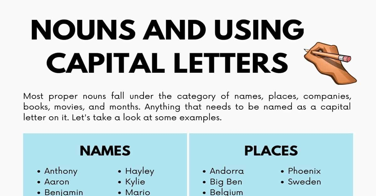 Nouns and Using Capital Letters