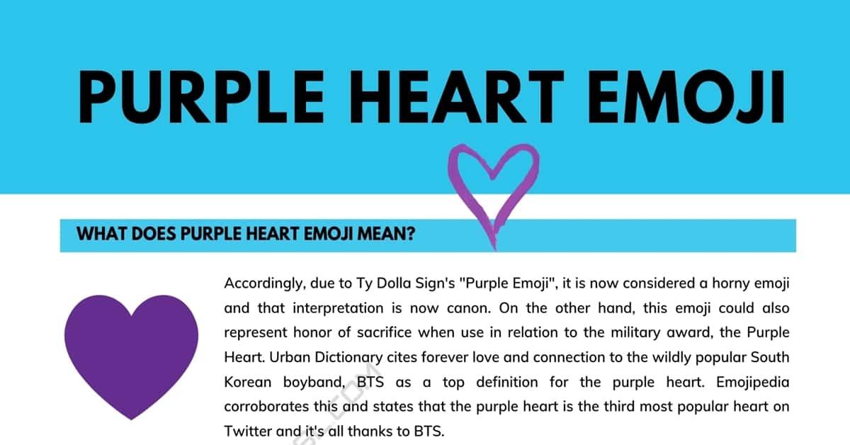 Purple Heart | What Does Purple Heart Emoji Mean? 6