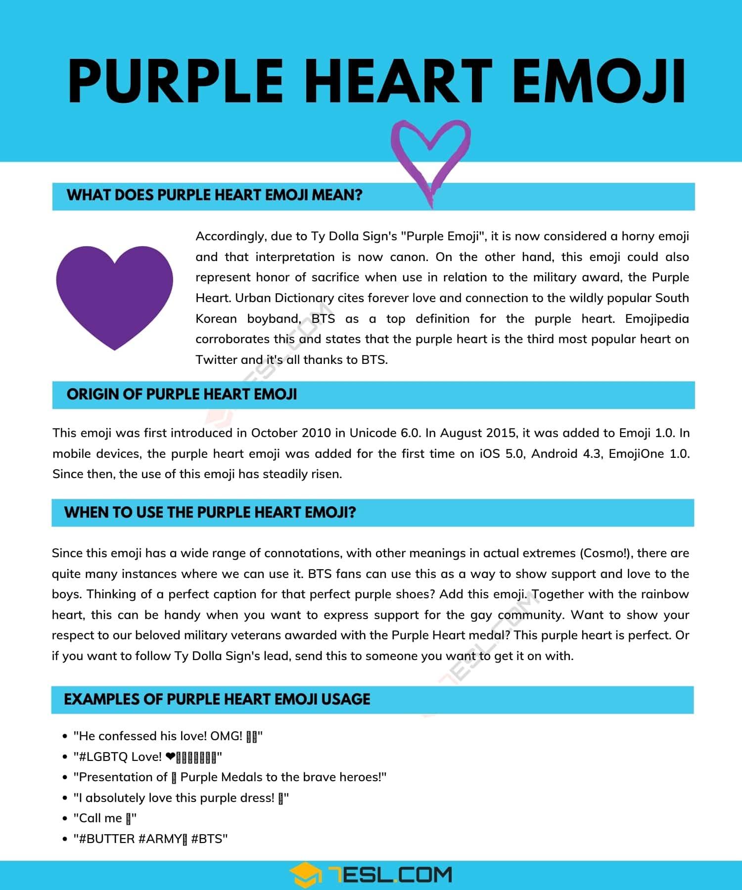 Purple Heart | What Every Purple Heart Emoji Really Means