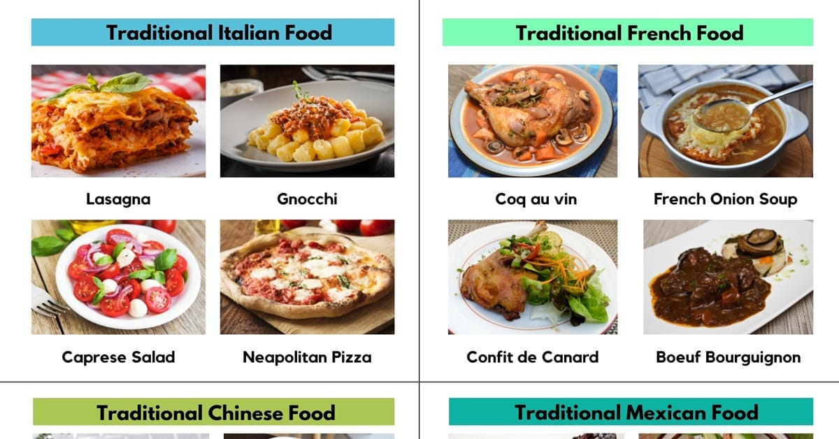 Traditional Food around the World with Pictures 1